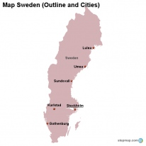 StepMap Maps For Sweden - Sweden map blank