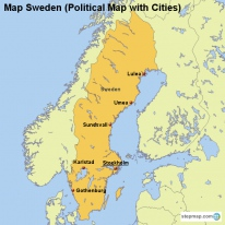 StepMap Maps For Sweden - Sweden map of cities