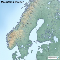 StepMap Maps For Sweden - Sweden map mountains