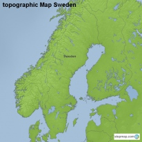 StepMap Maps For Sweden - Sweden map topographic