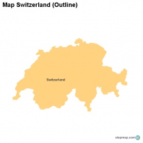 map switzerland outline