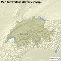 Map Switzerland (Overview-Map)