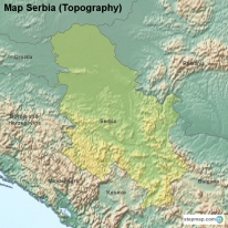 StepMap Maps For Serbia - Map of serbia