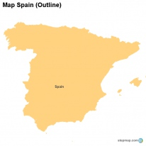 Map Spain (Outline)