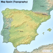 Map Spain (Topography)