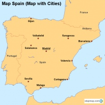 Map Spain (Map with Cities)