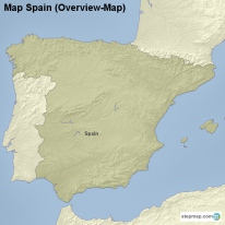 Map Spain (Overview-Map)