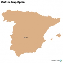 Outline Map Spain