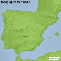 topographic Map Spain