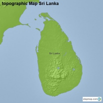 topographic Map Sri Lanka