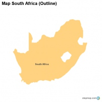 Map South Africa (Outline)
