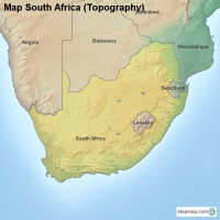 Map South Africa (Topography)
