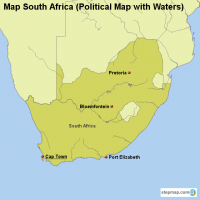 Map South Africa (Political Map with Waters)