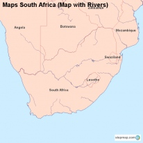 Maps South Africa (Map with Rivers)