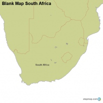 StepMap Maps For South Africa - Blank map of south africa