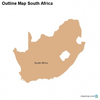 Outline Map South Africa