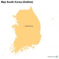 StepMap Maps For South Korea - south map outline