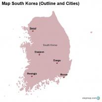 StepMap Maps For South Korea - Map of south korean cities