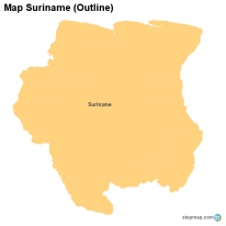 Map Suriname (Outline)
