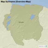 Map Suriname (Overview-Map)