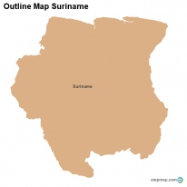Outline Map Suriname
