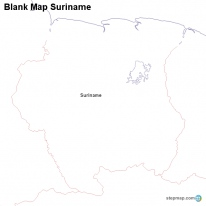 Blank Map Suriname