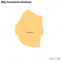 Map Swasiland (Outline)
