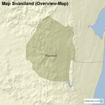 Map Swasiland (Overview-Map)