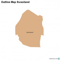 Outline Map Swasiland