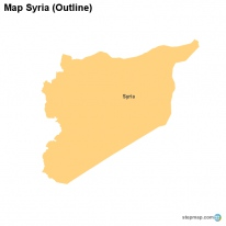 Map Syria (Outline)