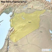 Map Syria (Topography)