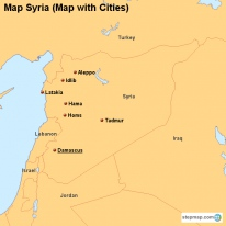Map Syria (Map with Cities)