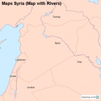 Maps Syria (Map with Rivers)