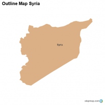 Outline Map Syria