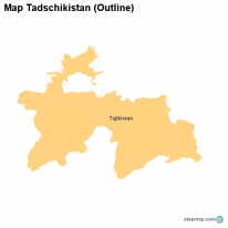 Map Tadschikistan (Outline)