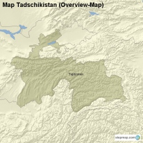 Map Tadschikistan (Overview-Map)