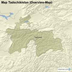 Map Tadzhikistan