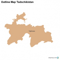 Outline Map Tadschikistan