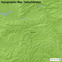 topographic Map Tadschikistan