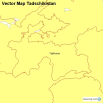 Vector Map Tadschikistan