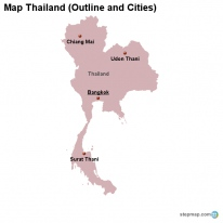 StepMap Maps For Thailand - Thailand blank map
