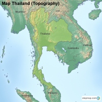 Thailand Topographic Map.Topographic Map Thailand Afp Cv