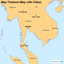 StepMap Maps For Thailand - Map of thailand cities