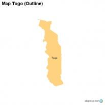 StepMap Maps For Togo - Togo map outline