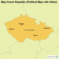 Map Czech Republic (Political Map with Cities)