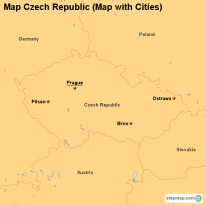 Map Czech Republic (Map with Cities)