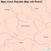 Maps Czech Republic (Map with Rivers)