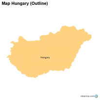 StepMap Maps For Hungary - Hungary blank map