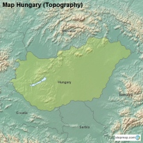 Map Hungary (Topography)