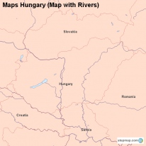 Maps Hungary (Map with Rivers)